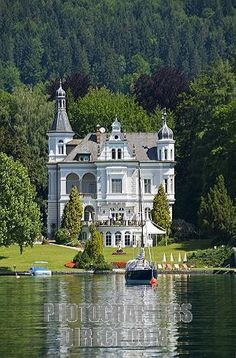 classical villa in poertschach on lake woerthersee , carinthia , austria ,