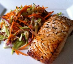 Miso Glazed Salmon with Sesame Slaw: This is one of my favourite salmon recipes. For best results, let the fish sit in the marinade for a couple of hours - I promise, it's worth the wait!