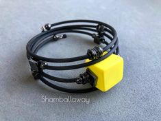 Rubber Material, Cord Bracelets, Jewelry Ideas, Leather, Bangle Bracelets, Jewels, Fimo