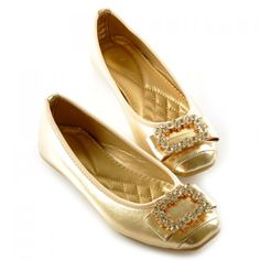 Pretty Women's Flat Shoes With Rhinestones and Square Toe Design