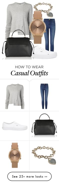 """Casual"" by diyana-amir on Polyvore featuring Frame Denim, Tiffany & Co., Proenza Schouler, Vans, Topshop and Lanvin"