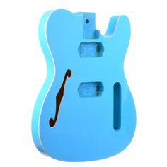 Daphne Blue Double Cream Bound Telecaster Style Body With Bound F-hole