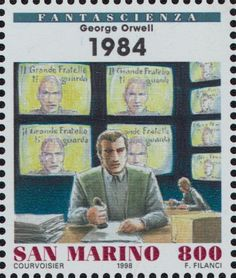 Literary Stamps: Orwell, George (1903 - 1950)