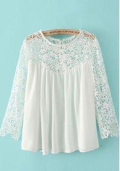 lace chiffon blouse