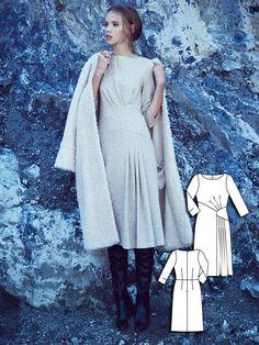 3/4 Sleeve Dress 12/2015 #110A http://www.burdastyle.com/pattern_store/patterns/34-sleeve-dress-122015?utm_source=burdastyle.com&utm_medium=referral&utm_campaign=bs-tta-bl-151116-OutCold110A