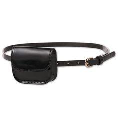 Belt with pocket in black - Handbags Waist Purse, Coin Bag, Fashion Belts, Medium Bags, Black Handbags, Bag Accessories, Leather Bag, Purses, Bum Bags
