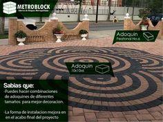 #construcción Con los #adoquines de  colores se pueden crear mosaicos decorativos de cemento, regalando espacios llamativos.