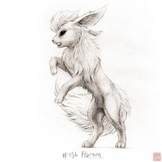#136: Flareon from drawingsofpokemon.tumblr.com