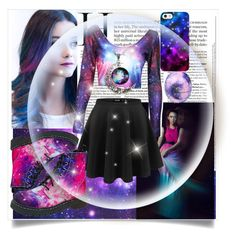 """""""Galaxy Girl"""" by cecesfashion12 ❤ liked on Polyvore"""