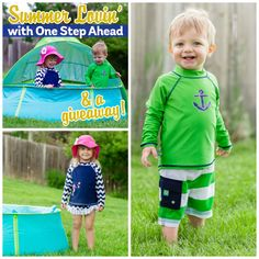 """Summer Lovin' with One Step Ahead  » Daily Mom!  """"We adore the Sun Smarties apparel from One Step Ahead, and their swimwear is sure to impress with its unmatched quality, durability and super-cute styles. It's adorable, and comfortable enough for your child to spend the entire day wearing (as many kids choose to do during the summer!). The Sun Smarties Swimwear is always UPF 50+ as well as chemical free!.."""""""