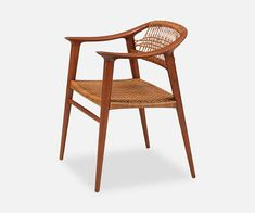 "Rolf Rastad & Adolf Relling ""Bambi"" Armchair for Gustav Bahus Designer: Rolf Rastad & Adolf Relling Manufacturer: Gustav Bahus Period/Style: Scandinavian Modern Country: Norway Date: 1955 Dimensions: x x Seat Height Materials: Teak Wood, Original Cane"