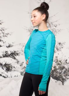 this sweat-wicking baselayer keeps you cool and dry even in double overtime. | Faceoff LS tech top