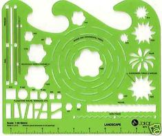 Garden Design Template 1:50 and 1:100 scale architectural drawing template stencil £9.40