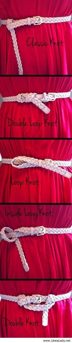 Mini belt knots