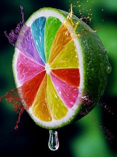 Image uploaded by . Find images and videos about colors, rainbow and fruit on We Heart It - the app to get lost in what you love. Colors Of The World, All The Colors, Vibrant Colors, Taste The Rainbow, Over The Rainbow, Rainbow Aesthetic, Happy Colors, Pics Art, Color Of Life