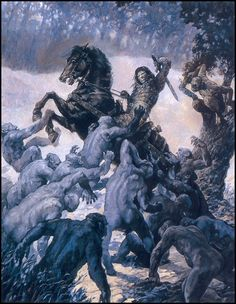 "wonderful-strange:  ""The Hour of the Dragon by Robert E. Howard. Illustration by Gary Gianni.  """