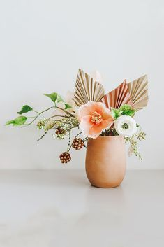 Find tabletop flower pots for home decor, like this adorable, round terra cotta crock pot in terracotta color. Perfect to display your DIY floral arrangement in your kitchen. - Terracotta - Tall x Wide - Terra Cotta Fake Flower Arrangements, Fake Flowers, Dried Flowers, Flower Vases, Artificial Flowers, Poppy Flowers, Diy Flower, Diy Wedding Flowers, Flower Bouquet Wedding
