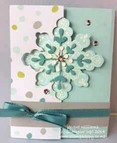 Snowflake Thinlit Gift Voucher Card - stampin up