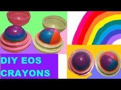 DIY EOS CRAYONS   COLOREA CON TUS EOS LIP BALM - YouTube