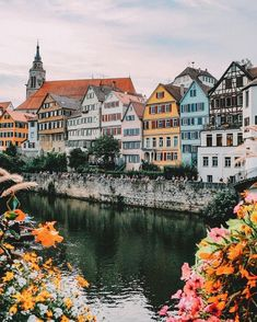 The bonbon-colored faces of these charismatic houses line the waterfront in Tübingen, Germany. The small town spans across an area of 42 square miles and runs along a ridge between the Ammer and Ne… Places Around The World, Travel Around The World, Voyage Europe, Destination Voyage, Future Travel, Travel Aesthetic, Adventure Is Out There, Germany Travel, Travel Destinations