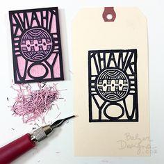thank you stamp Classroom Art Projects, Art Classroom, Stamp Printing, Screen Printing, Buy Stamps, Stamp Carving, Handmade Books, Linocut Prints, Book Art