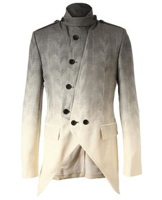 ANN DEMEULEMEESTER   OMBRE TAILORED WOOL MILITARY JACKET