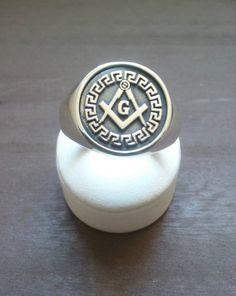 18K GOLD EP MASONIC MASON MENS nugget RING sz 10 or T 1//2 freemason other sizes