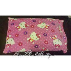Hello Kitty Pillowcase, Soft Fleece Pillowcase, Kids Bedding, Plush Pillowcase, Hello Kitty Pink Pillowcase, Colorful Pillowcase by SewPlushBoutique on Etsy