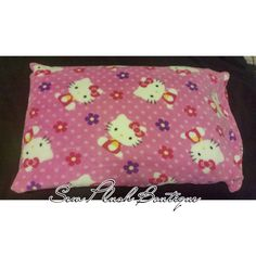 Hello Kitty Pillowcase, Soft Fleece Pillowcase, Kids Bedding, Plush Pillowcase, Hello Kitty Pink Pillowcase, Colorful Pillowcase by SewPlushBoutique on Etsy