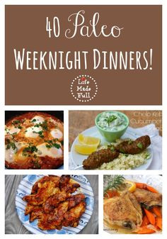 Fast and Easy Paleo Dinners Crunched for time? Here are 40 *fast* Paleo Dinners to simplify your life! They're perfect for a busy weekday.Crunched for time? Here are 40 *fast* Paleo Dinners to simplify your life! They're perfect for a busy weekday. Whole Food Recipes, Diet Recipes, Healthy Recipes, Easy Recipes, Healthy Dinners, Paleo Food, Quick Paleo Meals, Paleo Meal Plan, Easy Paleo Dinner Recipes