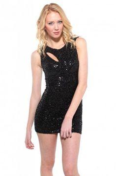 Diva Sequin Sleeveless Dress in Black | Sequin Dresses under 50 | ShopAkira.com