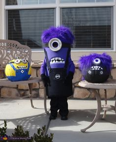 Brooke: My youngest daughter went as an evil purple minion this year with much delight! She is only 3 and did a great job wearing her costume all night, waving at...