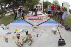 Homecoming 2013 Sidewalk Chalk competition. Picnic Blanket, Outdoor Blanket, Homecoming Week, Sidewalk Chalk, Competition, Life, Picnic Quilt