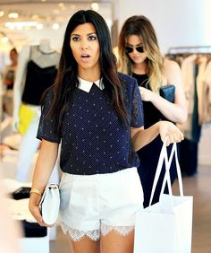 June 3, 2014 - Khloe and Kourtney shopping in Southampton, NY