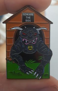 "Image of Ghostbusters ""BEWARE THE TERROR DOG"" Enamel Pin"