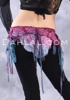 FLUORITE TO DYE FOR Belt, by designer FlipNTribal, Tribal Cabaret Fusion Belly Dance Accessory - Dahlal Internationale Store