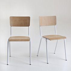 Lot de 2 chaises empilables style écolier Hiba
