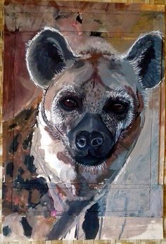 #hyena Day 57 $57 100 faces in a 100 days by @myartofhearts