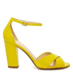 love the idea of bright yellow shoes! kate spade.