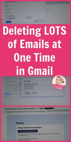 Deleting LOTS of Emails at One Time in Gmail. Learn my tricks here! hacks tech Deleting LOTS of Emails at One Time in Gmail Life Hacks Computer, Computer Help, Computer Tips, Computer Lessons, Computer Basics, Computer Keyboard, Iphone Hacks, Android Hacks, Evernote