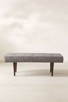 """- Length: 48"""" - Width: 20"""" - Height: 17  Henderson Upholstered Bench - Urban Outfitters"""
