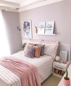 Small Teen Room, Bedroom Decor For Teen Girls, Kids Bedding Sets, Bed Pillows, Pillow Cases, Furniture Design, Master Bedrooms, Creative Design, Room Ideas