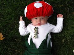 Wispy House: DIY toadstool costume! Rhyssie is going to be toadstool from super Mario bros for Halloween (: