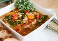 White Bean and Vegetable Soup (Make with Trader Joe's brown rice/quinoa fusilli for gluten free option)