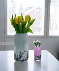 Mummi Vase Glass 23cm Hvit (489-750-230-02)