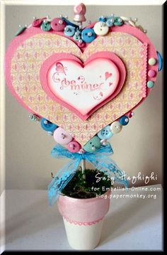 DIY Topiary : DIY Valentines Heart Topiary