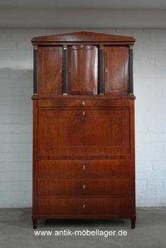 Lovely Biedermeier Sekret r Mahagoni Antique Biedermeier Davenport Restored s