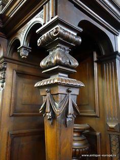 Baroque Furniture, Luxury Furniture, Vintage Furniture, Furniture Design, India Architecture, Architecture Details, Arte Bar, Pillar Design, Oriental Design
