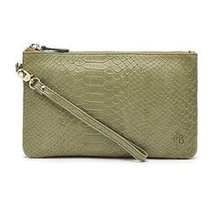 Great Last Minute Christmas Deals. Perfect Gift for Women. Reptile Green Mighty Purse Leather Clutch $109.99