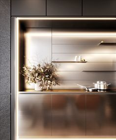 MUKA DESIGN Kitchen Pantry, Kitchen Dining, Wine Rooms, Home Bar Decor, Stainless Steel Kitchen, Modern Kitchen Design, Kitchen Inspiration, Joinery, Dining Area